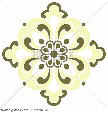 Oriental Isolated Pattern Object Botanic Garden Plant Flower Kaleidoscope