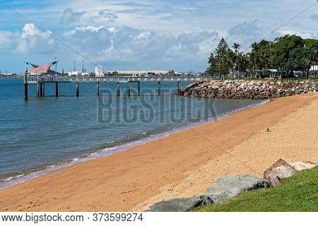 A Jetty Jutting Out Onto The Water And Used By The Public For Fishing And Recreational Activities, W