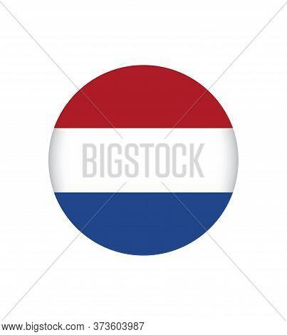 Netherlands Flag, Official Colors And Proportion Correctly. National Netherlands Flag. Flat Vector I