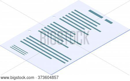 Paper After Hole Puncher Icon. Isometric Of Paper After Hole Puncher Vector Icon For Web Design Isol