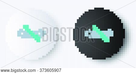 Line Rafting Boat Icon Isolated On Grey Background. Inflatable Boat With Paddles. Water Sports, Extr