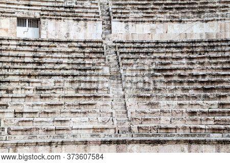 Auditorium Of The Roman Theatre In Amman, Jordan