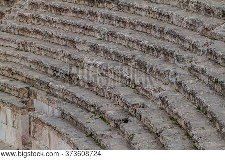 Steps Of The Roman Theatre In Amman, Jordan