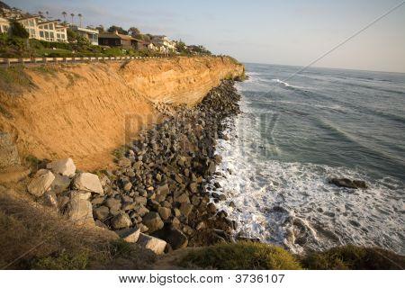 Coastal Cliffs And Houses