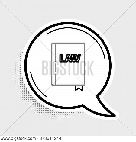 Line Law Book Icon Isolated On Grey Background. Legal Judge Book. Judgment Concept. Colorful Outline