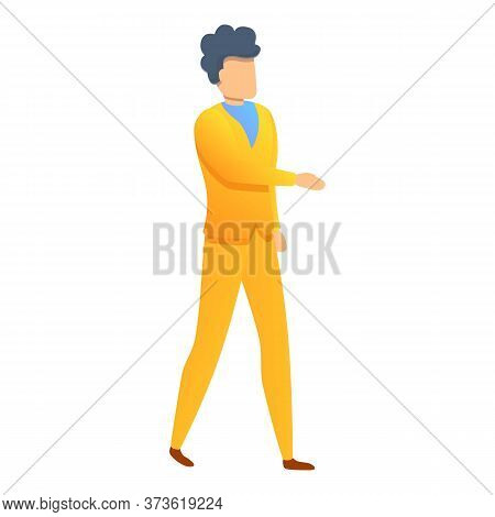 Distributor Manager Icon. Cartoon Of Distributor Manager Vector Icon For Web Design Isolated On Whit