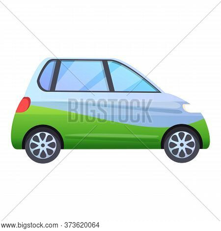 Small Hybrid Car Icon. Cartoon Of Small Hybrid Car Vector Icon For Web Design Isolated On White Back
