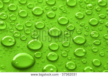 Green Water Drops
