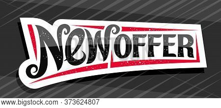 Vector Banner For New Offer, White Decorative Pricetag For Black Friday Or Cyber Monday Sale With Un