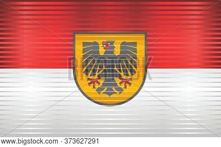 Shiny Grunge Flag Of The Dortmund - Illustration,  Three Dimensional Flag Of Dortmund