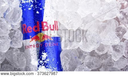 Can Of Red Bull, A Popular Energy Drink