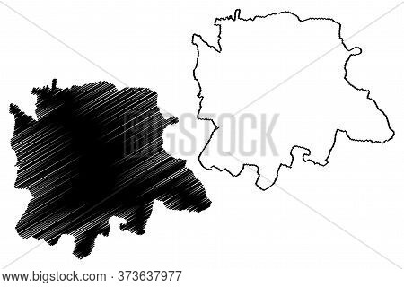 Bangalore City (republic Of India, Karnataka State) Map Vector Illustration, Scribble Sketch City Of