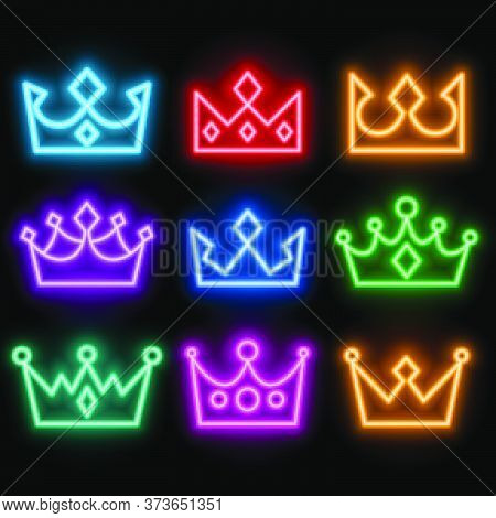Glowing Neon Style Crowns Set In Many Colors