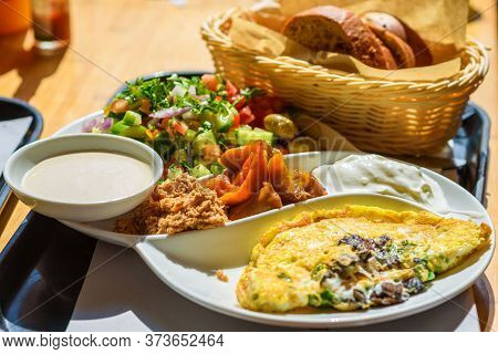 Israeli Breakfast Plate Found In Every Cafe In Israel, This Plate Has Everything That Is Good Eggs P