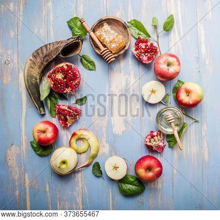 Jewish New Year - Rosh Hashanah. Rosh Hashanah  (hashana) - Jewish New Year Holiday Concept. Traditi