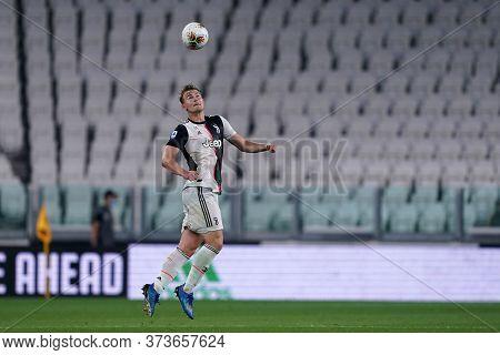 Torino (italy) 26th June 2020. Italian Serie A. Juventus Fc Vs Us Lecce. Matthijs De Ligt Of Juventu