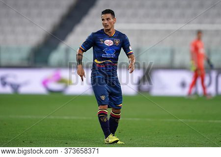 Torino (italy) 26th June 2020. Italian Serie A. Juventus Fc Vs Us Lecce. Filippo Falco Of Us Lecce