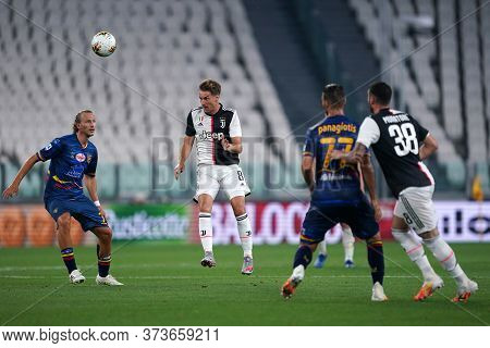 Torino (italy) 26th June 2020. Italian Serie A. Juventus Fc Vs Us Lecce. Aaron Ramsey Of Juventus Fc