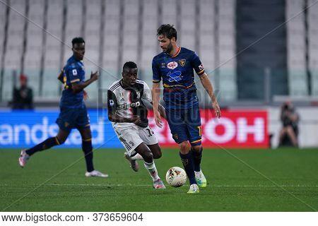 Torino (italy) 26th June 2020. Italian Serie A. Juventus Fc Vs Us Lecce. Jevhen Sachov Of Us Lecce