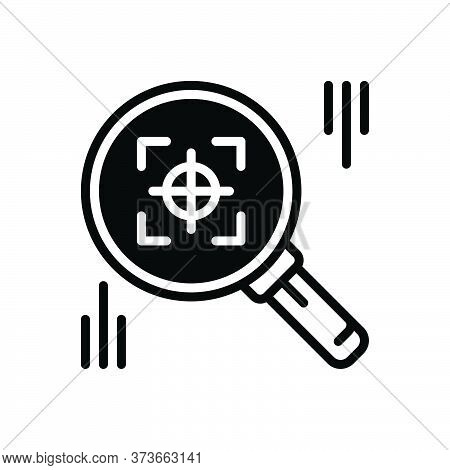 Black Solid Icon For Finder Search Quest Discovery Find
