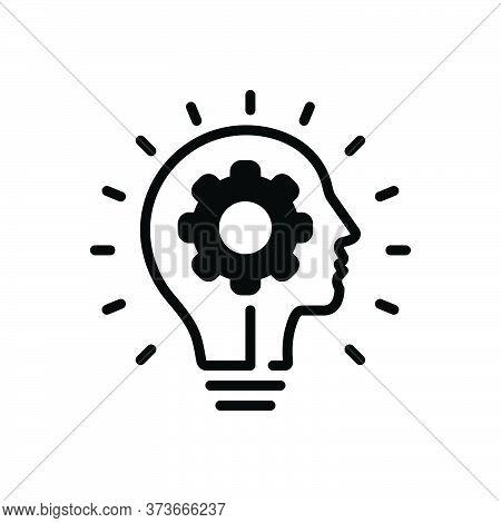 Black Solid Icon For Innovating Innovation Revolution Insurgence