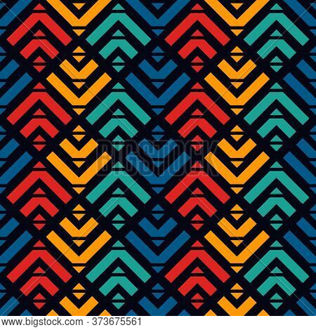 Arrows, Scales Seamless Pattern. Ethnic, Tribal Print. Squama, Chevrons Ornament. Repeated Arrowhead