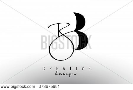 Letters Bb B Logo With A Minimalist Design And Handwritten Letter. Simple Bb Icon. Creative Vector I