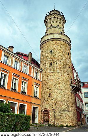 Medieval Stone Defensive Tower In Jelenia Gora In Poland
