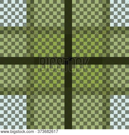 Tartan Scottish Seamless Pattern In Muted Green And Grey Colors, Texture For Flannel Shirt, Plaid, T