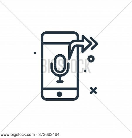 audio icon isolated on white background from work from home collection. audio icon trendy and modern