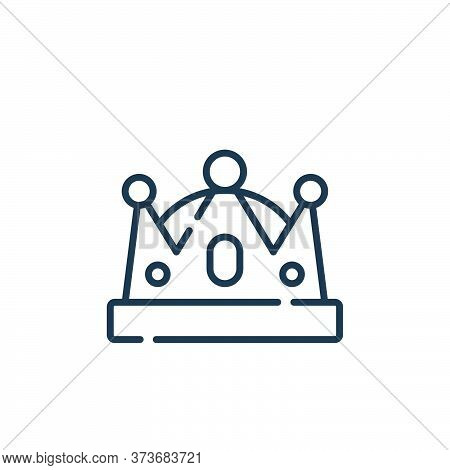 crown icon isolated on white background from fame collection. crown icon trendy and modern crown sym