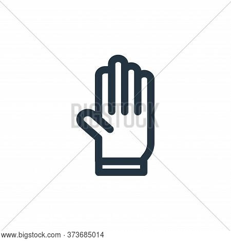 gloves icon isolated on white background from landscaping equipment collection. gloves icon trendy a
