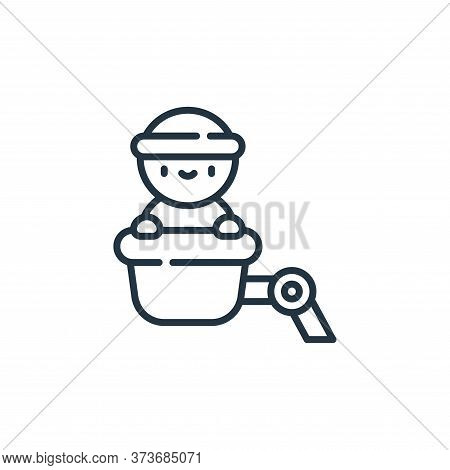 crane icon isolated on white background from electrician tools and elements collection. crane icon t