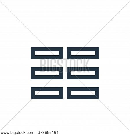 columns icon isolated on white background from text editor collection. columns icon trendy and moder