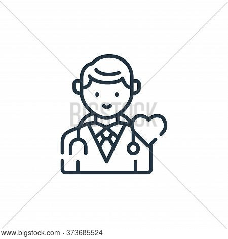 doctor icon isolated on white background from kindness collection. doctor icon trendy and modern doc