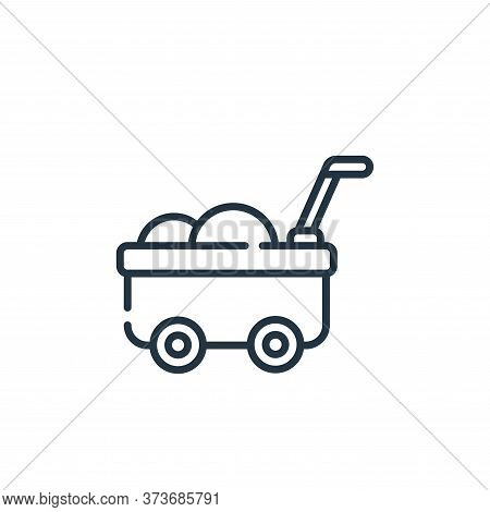 cart icon isolated on white background from children toys collection. cart icon trendy and modern ca