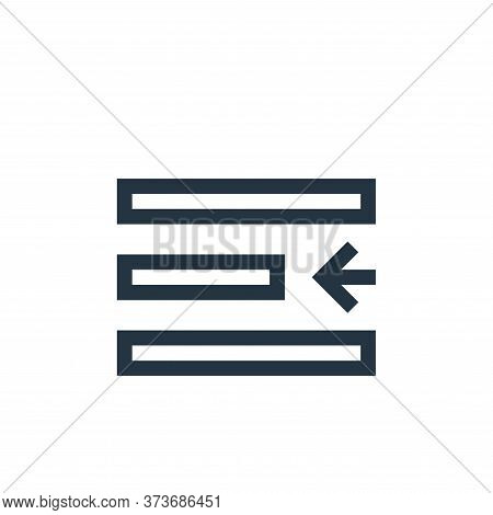 Left Indent Vector Icon From Text Editor Collection Isolated On White Background