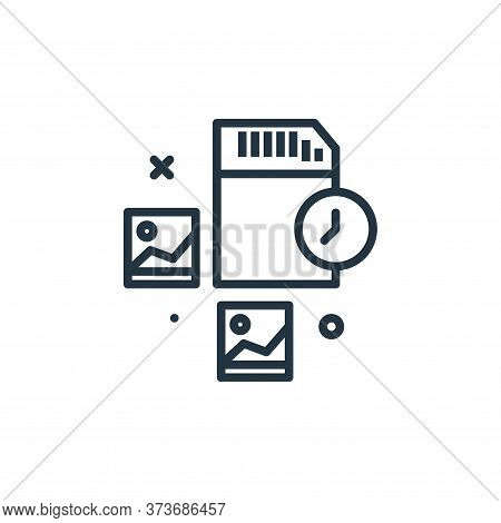 memory card icon isolated on white background from work from home collection. memory card icon trend