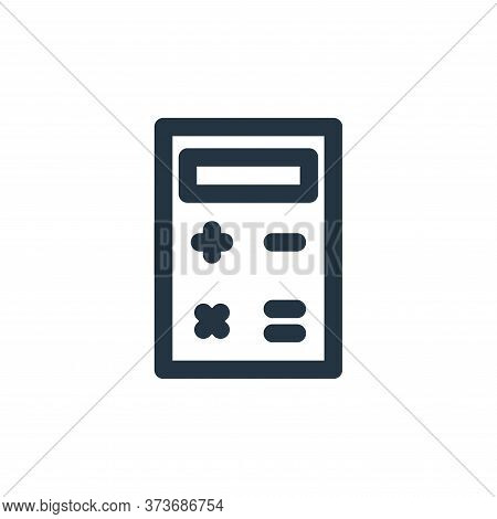 calculator icon isolated on white background from marketing business collection. calculator icon tre