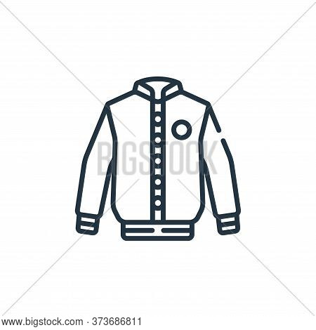 jacket icon isolated on white background from baseball collection. jacket icon trendy and modern jac