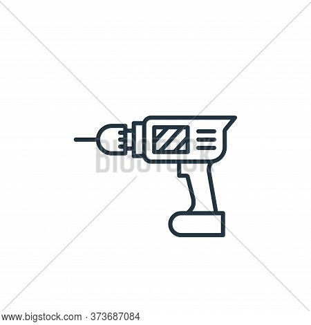 drilling machine icon isolated on white background from carpentry collection. drilling machine icon