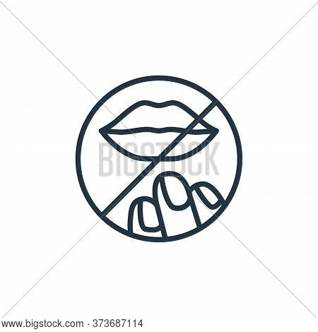 lips icon isolated on white background from stop virus collection. lips icon trendy and modern lips