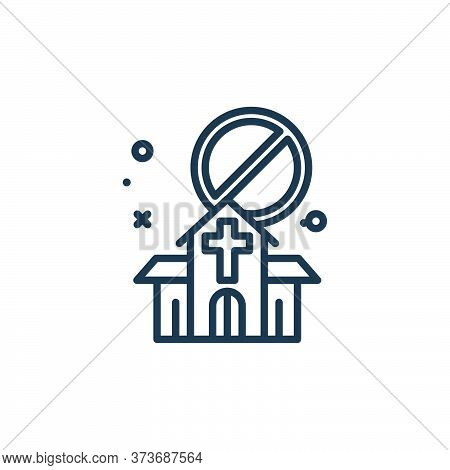 church icon isolated on white background from virus restrictions collection. church icon trendy and