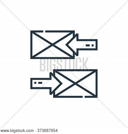 email icon isolated on white background from marketing collection. email icon trendy and modern emai