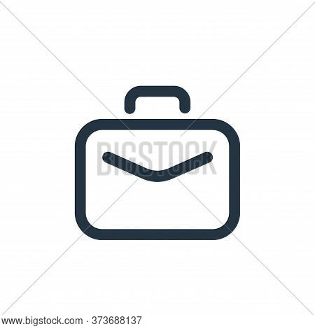 briefcase icon isolated on white background from seo collection. briefcase icon trendy and modern br