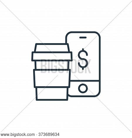 mobile payment icon isolated on white background from ecommerce collection. mobile payment icon tren