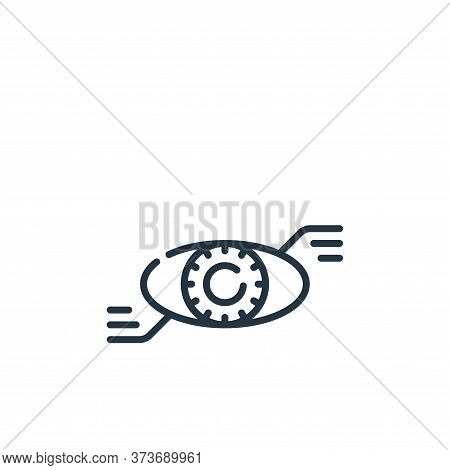 bionic eye icon isolated on white background from technology of the future collection. bionic eye ic