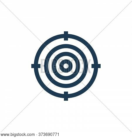target icon isolated on white background from marketing and growth collection. target icon trendy an