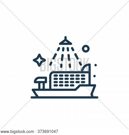 cruise ship icon isolated on white background from mass disinfection collection. cruise ship icon tr