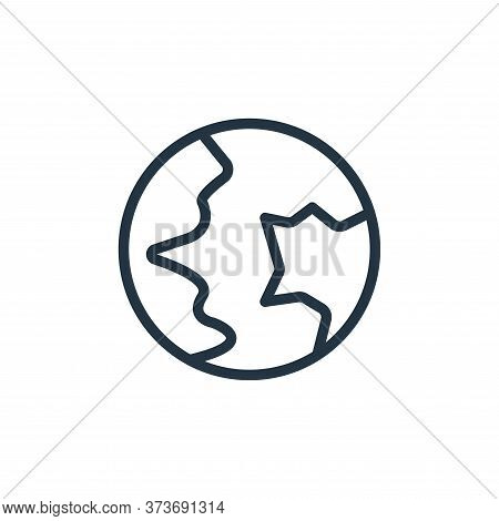 global communication icon isolated on white background from contact collection. global communication